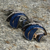 Blue and Silver Angelfish Cufflinks