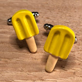 Yellow Popsicle Cufflinks