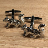 Silver Squirrel Cufflinks