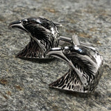 Silver Eagle Head Cufflinks