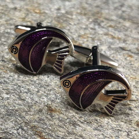 Purple Angelfish Cufflinks