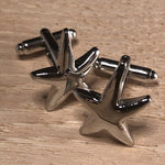 Silver Five Armed Starfish Cufflinks
