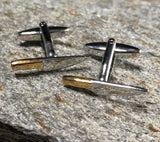 Silver and Gold Chefs Knife Cufflinks