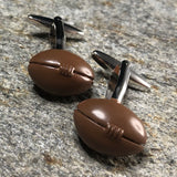 3D Brown Football Cufflinks