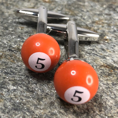 Billiard Ball No. 5 Cufflinks
