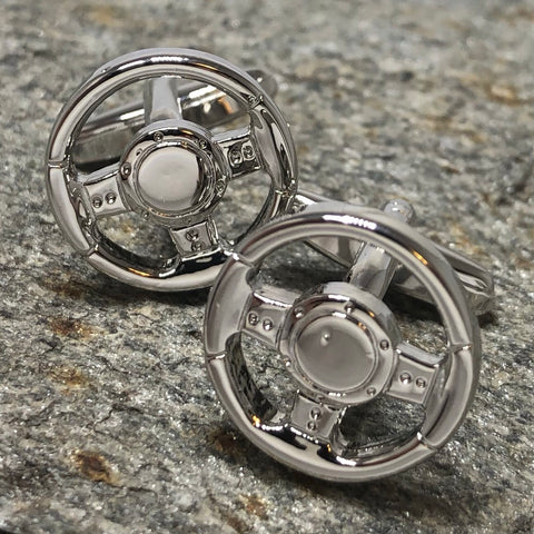 Steering Wheel Cufflinks