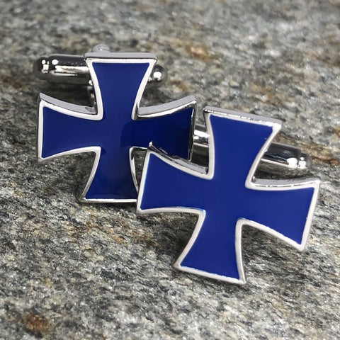 Blue Patty Cross Cufflinks