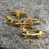 Gold Dachshund Cufflinks