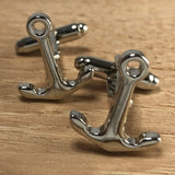 Silver Anchor Cufflinks
