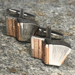Silver and Gold Accordion Cufflinks