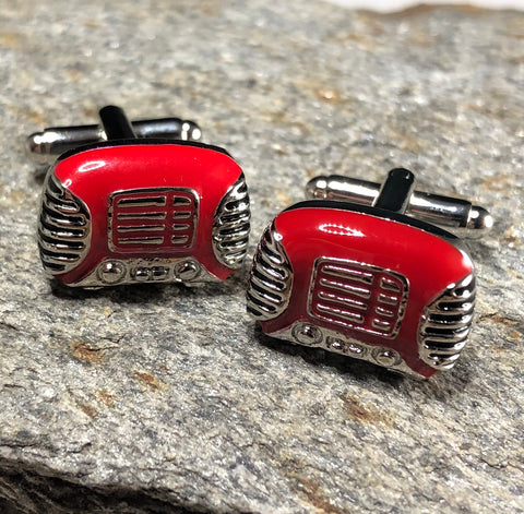Red and Silver Boombox Cufflinks