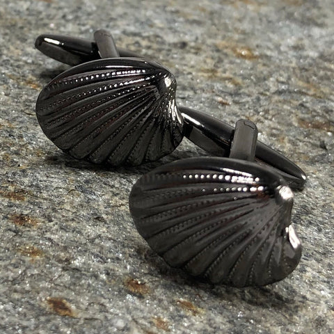 Black Cockle Shell Cufflinks
