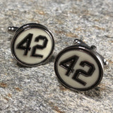Black and White Baseball 42 Cufflinks