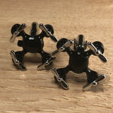 Silver and Black Drone Cufflinks