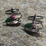 Multi Colored Fly Fishing Hook Cufflinks