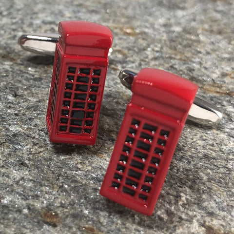 Red Phone Booth Cufflinks