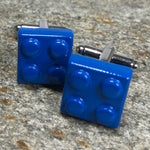 Dark Blue Brick Cufflinks