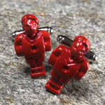 Red Foosball Player Cufflinks