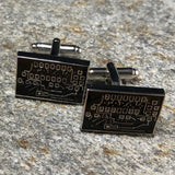 Black and Silver Circuit Board Cufflinks