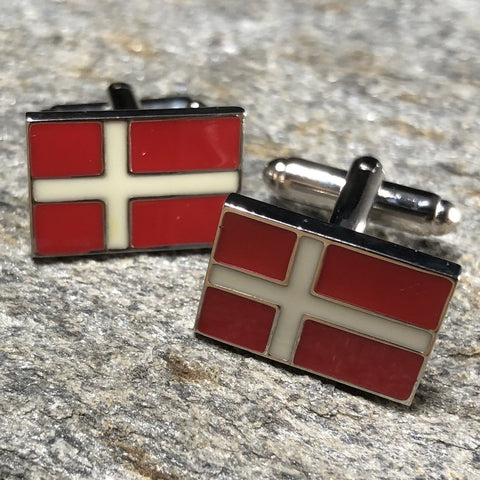 Denmark Flag Cufflinks