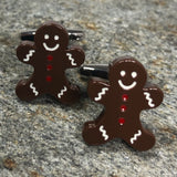 Brown Gingerbread Man Cufflinks
