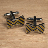 Yellow Bowtie Cufflinks