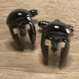 Black Greek Helmet Cufflinks