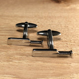 Silver Cricket Bat Cufflinks