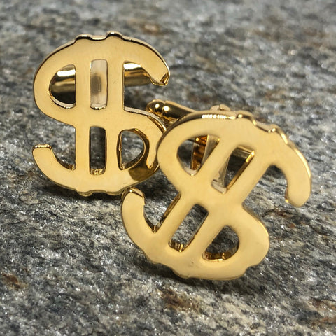 Gold Dollar Sign Cufflinks