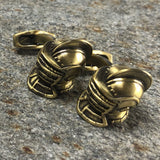 Gold Knights Helmet Cufflinks