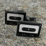 Black Music Cassette Cufflinks