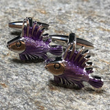 Purple Lion Fish Cufflinks
