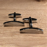 Silver Surf Board Cufflinks