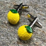 Yellow Lemon Cufflinks