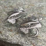 Fly Fishing Hook Cufflinks