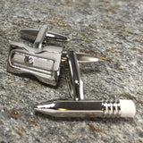 Pencil And Sharpener Cufflinks