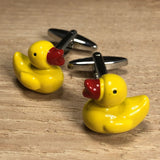 Yellow Toy Duck Cufflinks