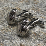 Silver Turtle Hatching from a Shell Cufflinks