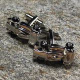 Silver Race Car Cufflinks