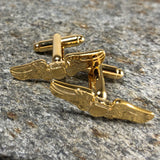 Gold Pilot Wing Cufflinks