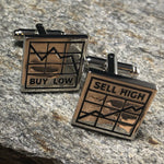 Silver Stock Buy and Sell Chart Cufflinks