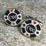 Poker Chip Cufflinks - Pounds