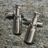 Silver Champagne Bottle Cufflinks