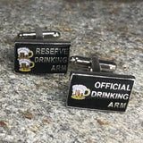 Drinking Arm Sign Cufflinks