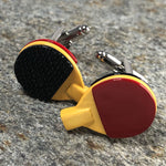 Ping-Pong Paddle Cufflinks