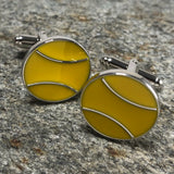 2D Yellow Tennis Ball Cufflinks