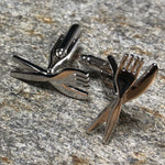 Silver Knife and Fork Cutlery Cufflinks