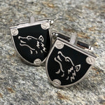 Wolf Shield Cufflinks