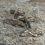 Silver Rowboat Cufflinks