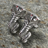 Silver Cobra with Red Eyes Cufflinks
